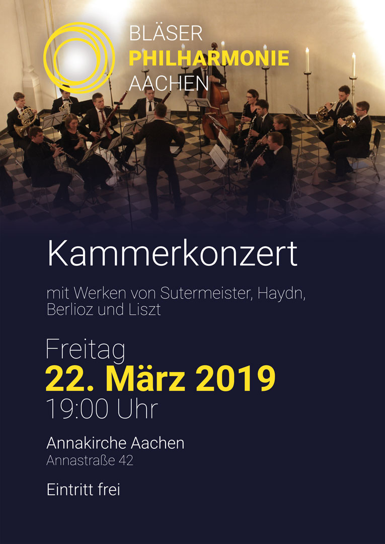 Kammerkonzert Plakat