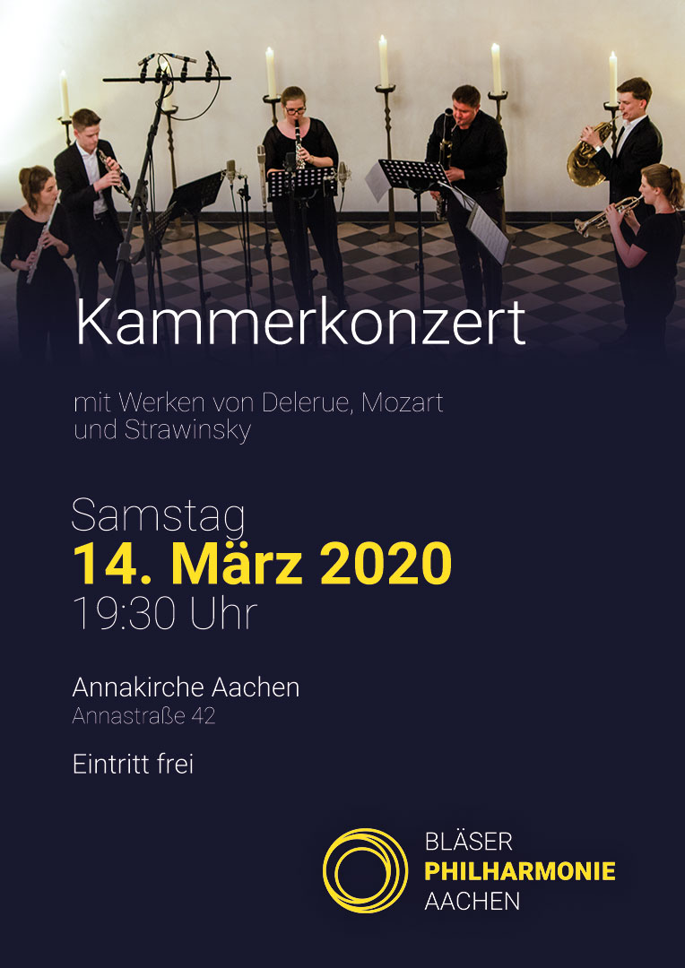 Kammerkonzert Abgesagt Plakat